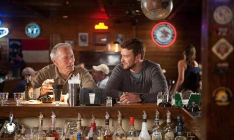 "Clint Eastwood and Justin Timberlake costar in ""Trouble With the Curve."""